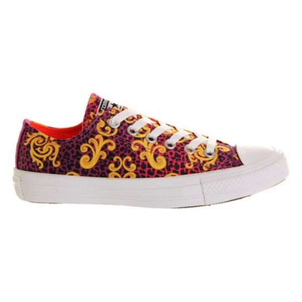 Converse All Star Low Luxe Viola Fiery Coral Unisex Shoes