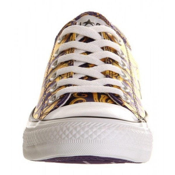 Converse All Star Low Purple Gold Luxe Unisex Shoes