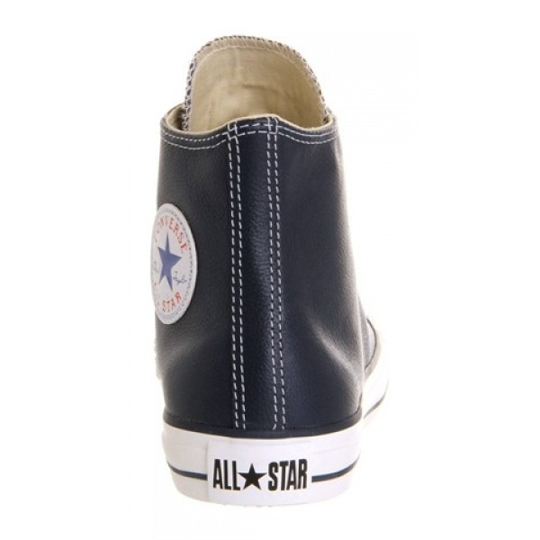Converse All Star Hi Leather Athletic Navy Unisex Shoes