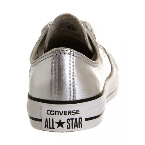 Converse All Star Low Leather Silver Metallic Unisex Shoes
