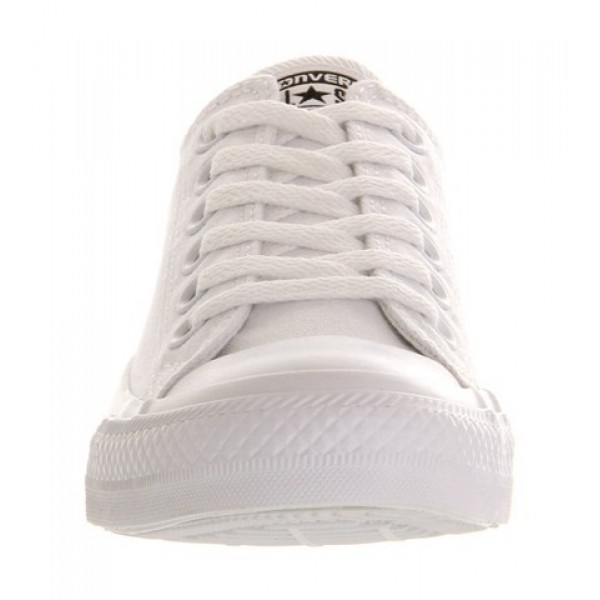 Converse All Star Low White Mono Canvas Unisex Shoes