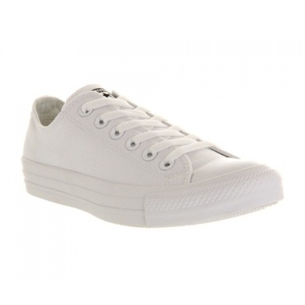 Converse All Star Low White Mono Canvas Unisex Sho...