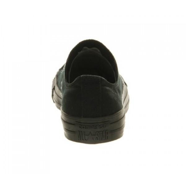 Converse All Star Low Black Mono Canvas Unisex Shoes