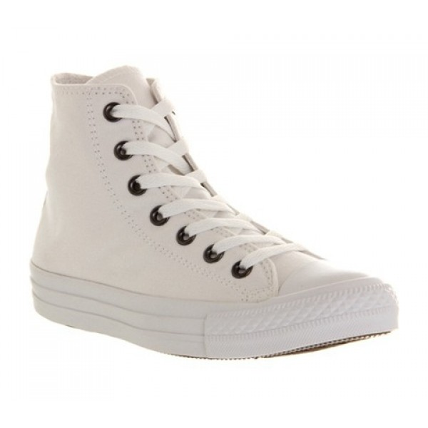 Converse All Star Hi White Mono Canvas Exclusive U...