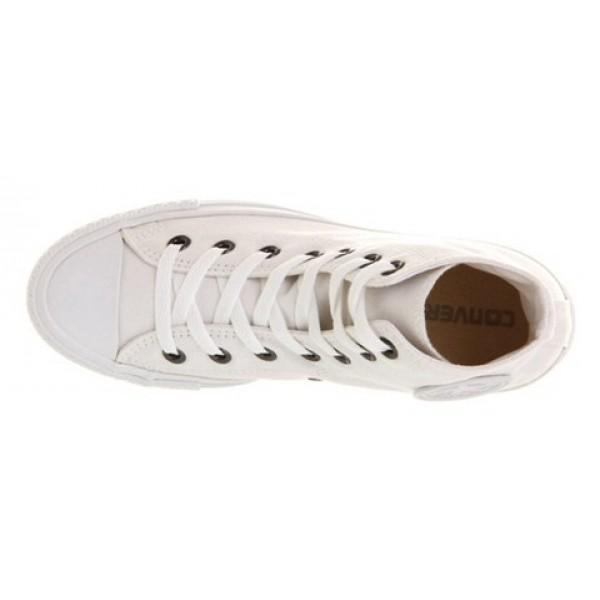 Converse All Star Hi White Mono Canvas Exclusive Unisex Shoes