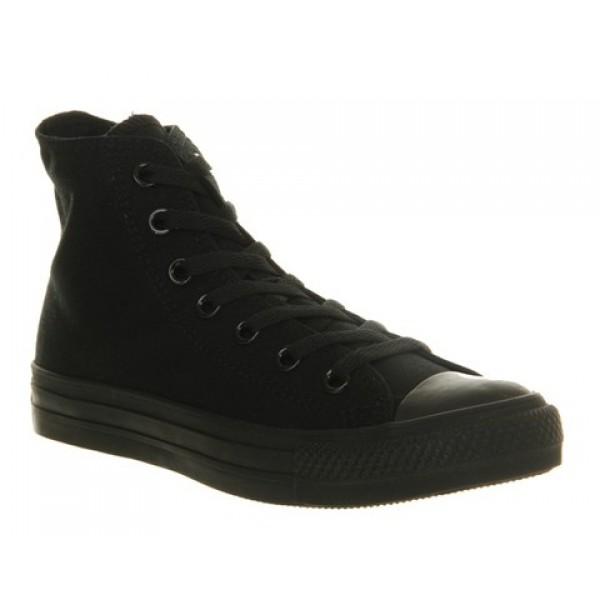 Converse All Star Hi Black Mono Canvas Unisex Shoes