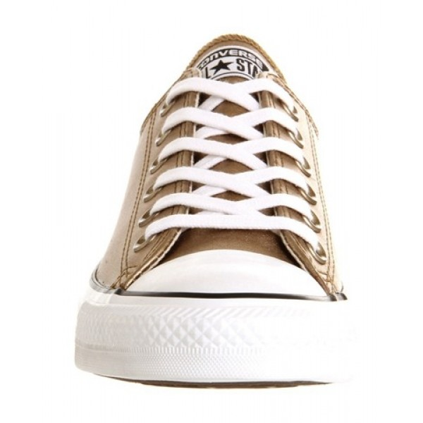 Converse All Star Low Leather Gold Metallic Unisex Shoes