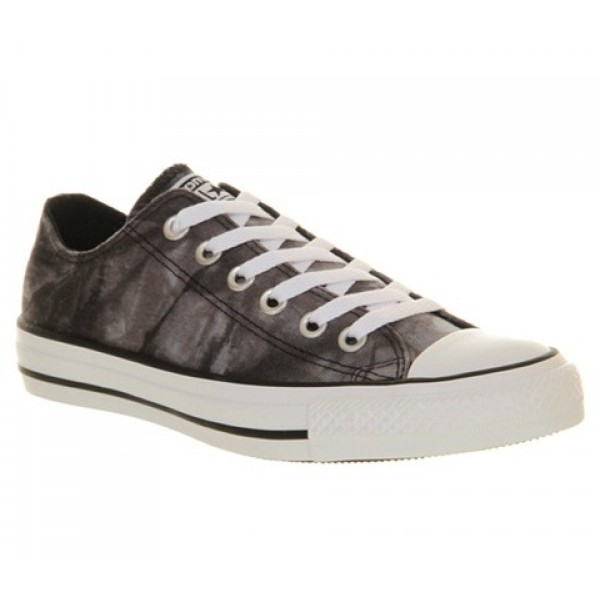 Converse All Star Low Black White Tie Dye Women's ...