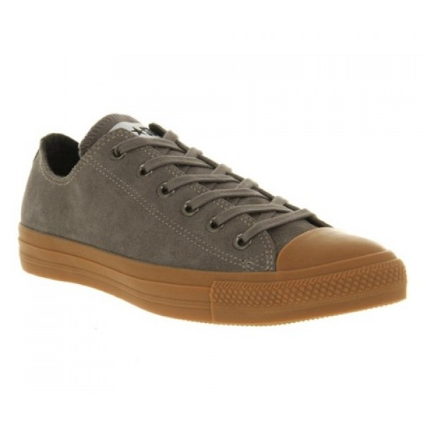 Converse All Star Low Steel Grey Suede Gum Sole Wo...