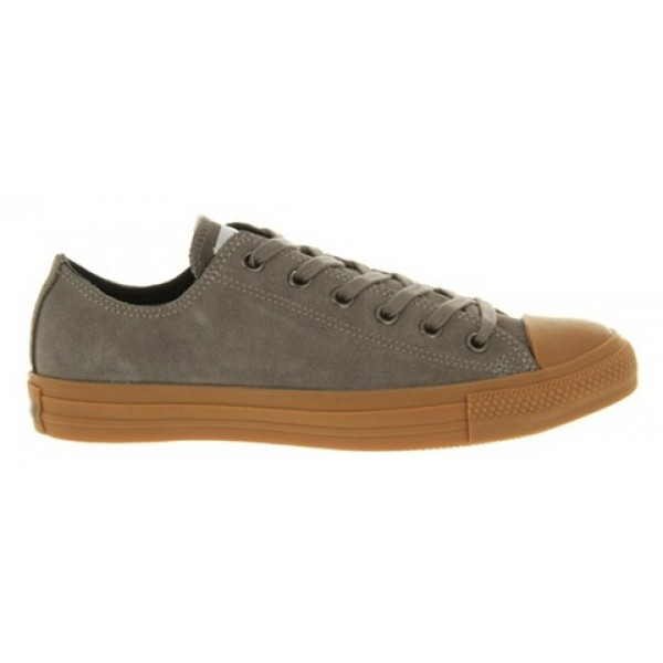 Converse All Star Low Steel Grey Suede Gum Sole Women's Shoes
