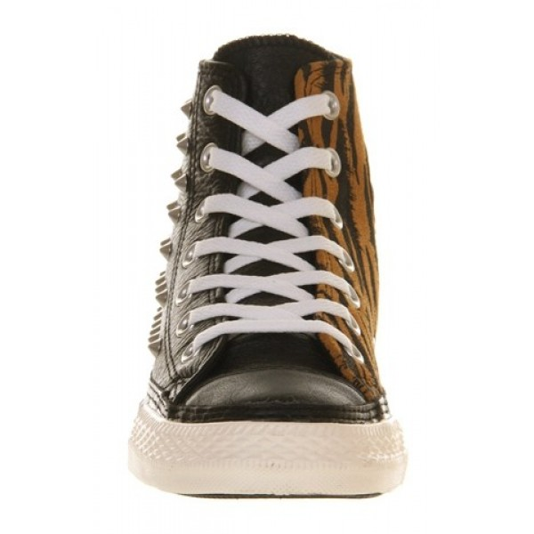 Converse All Star Hi Leather Studded Leather Animal Suede Women's Shoes