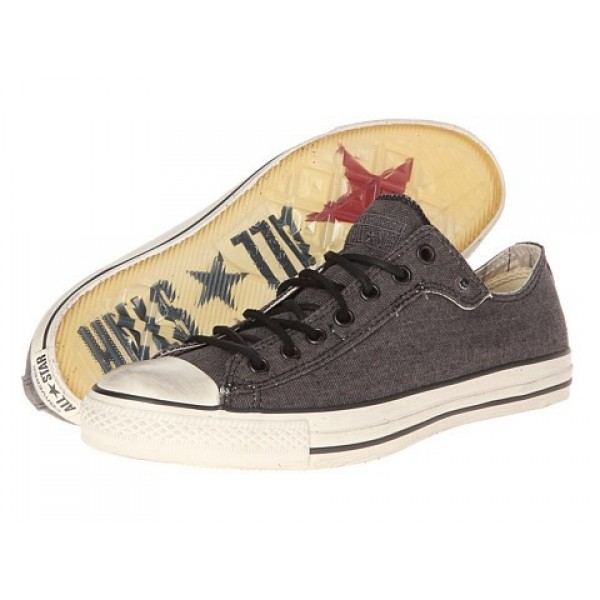 Converse All Star Ox - Stud Closure Canvas Phantom White Men's Shoes