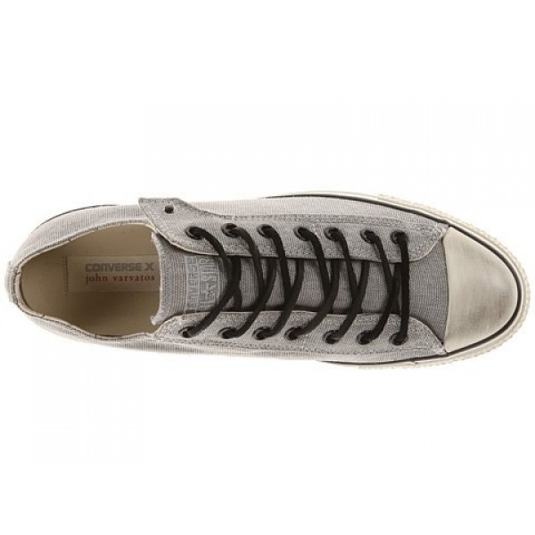 Converse All Star Ox - Stud Closure Canvas Frost Gray White Men's Shoes
