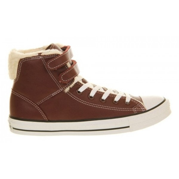 Converse All Star Hi 2 Strap Burgundy Shearling Unisex Shoes