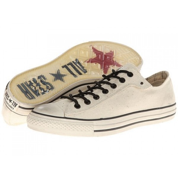Converse All Star Ox - Stud Closure Canvas White Men's Shoes