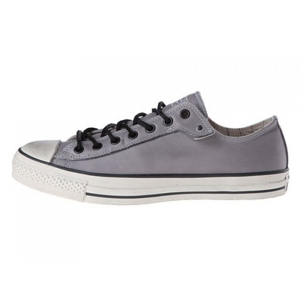 Converse All Star Ox - Stud Closure Leather Frost Gray White Men's Shoes