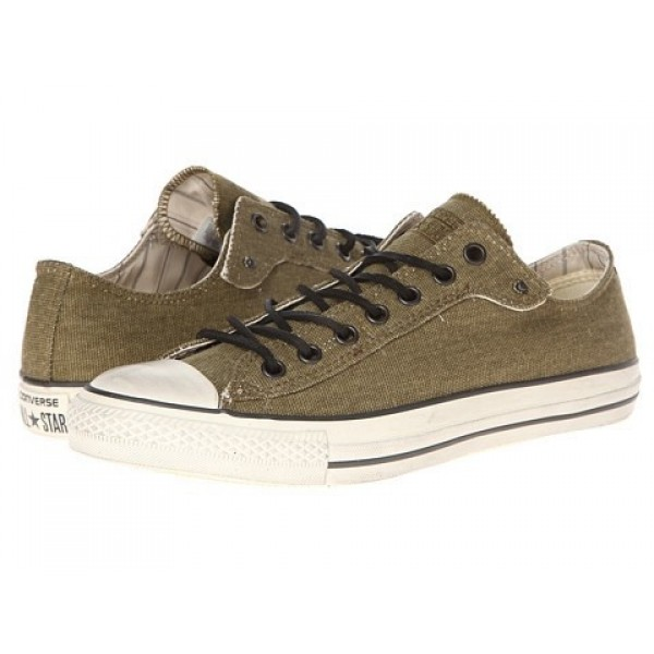 Converse All Star Ox - Canvas Dark Olive White Men's Shoes