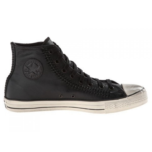 Converse All Star Hi - Woven Leather Black White M...