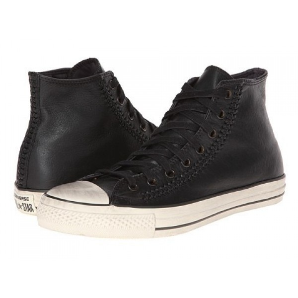 Converse All Star Hi - Woven Leather Black White Men's Shoes