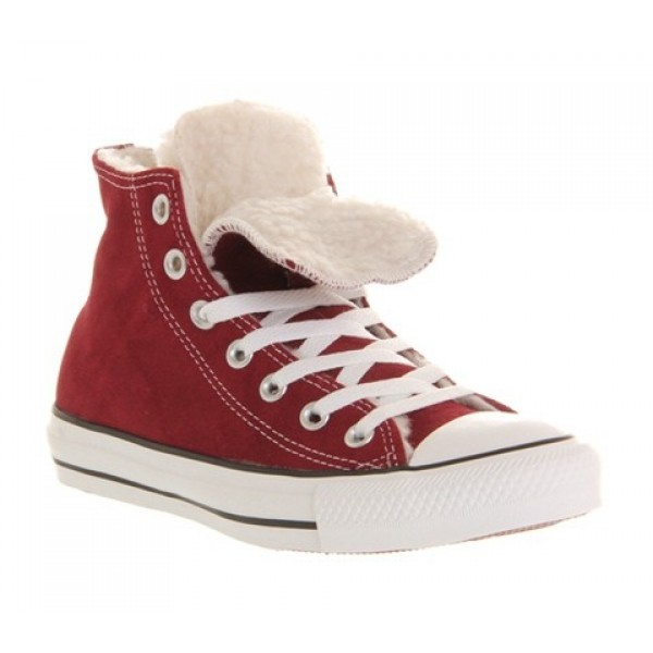 Converse All Star Hi Double Tongue Maroon Shearlin...