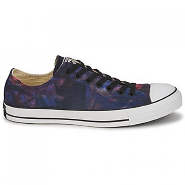 Converse All Star Tie Dye Ox Red Radio Blue White Men's Shoes