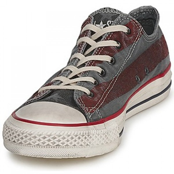 Converse All Star Premium Washed Flag Ox Anthracite Bordeaux Men's Shoes