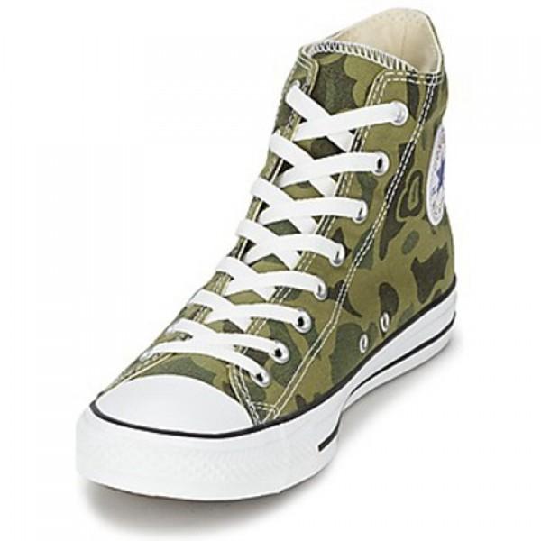 Converse All Star Camo Print Hi Olive Branch Men's Shoes