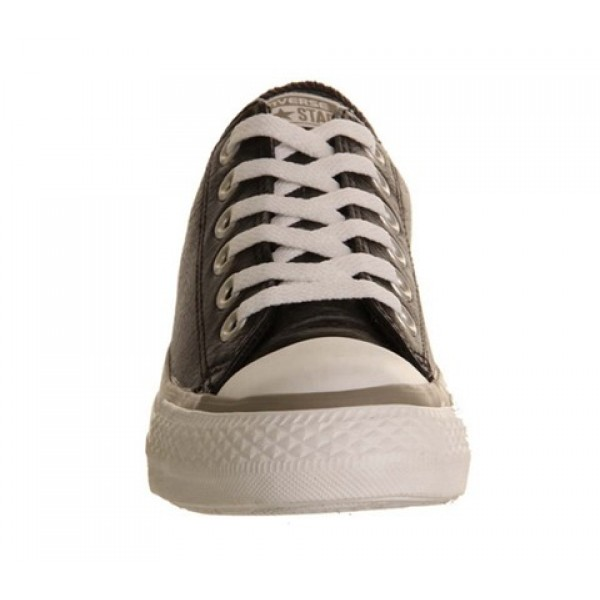 Converse All Star Low Leather Black Grey Garnet Exclusive Unisex Shoes