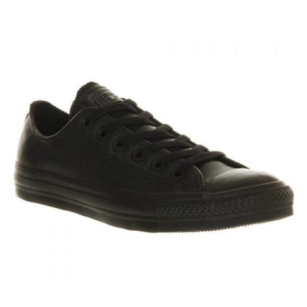 Converse All Star Low Black Mono Leather Unisex Sh...