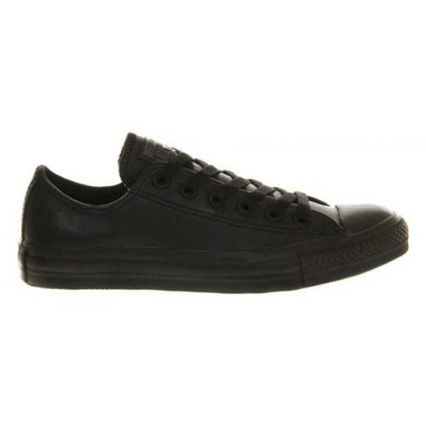 Converse All Star Low Black Mono Leather Unisex Shoes