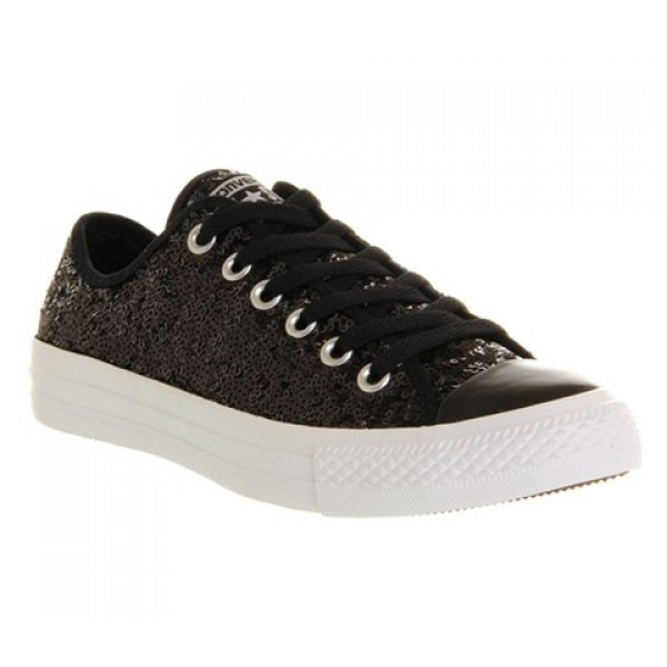 Converse All Star Low Black White Sequin Exclusive...