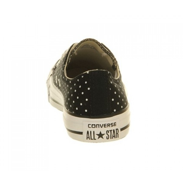 Converse All Star Low Black White Polka Unisex Shoes