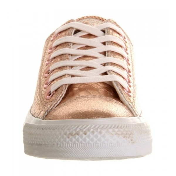 Converse All Star Low Rose Metallic Snake Leather Unisex Shoes