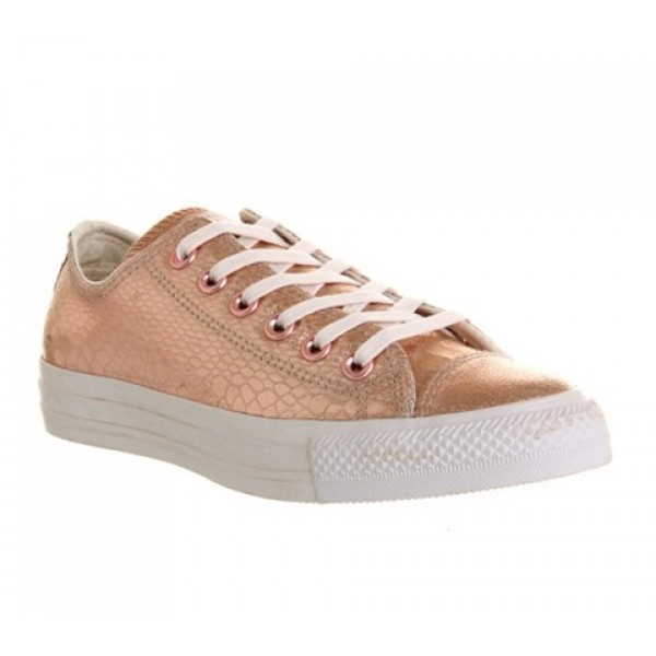 Converse All Star Low Rose Metallic Snake Leather ...