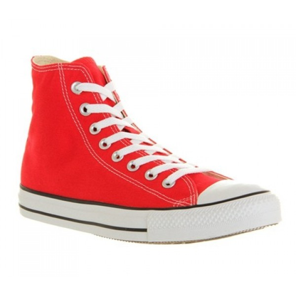 Converse All Star Hi Red Canvas Unisex Shoes