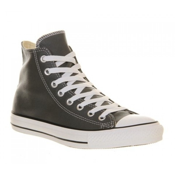 Converse All Star Hi Leather Charcoal Leather St Unisex Shoes