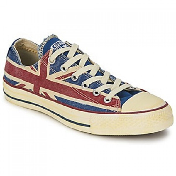 Converse All Star Union Jack White Blue Red Men's Shoes