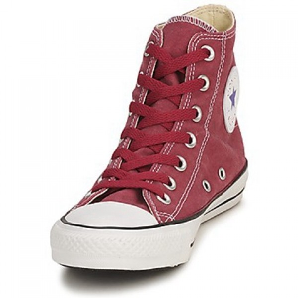 Converse All Star Basic Washed Hi Red Brick Men's Shoes