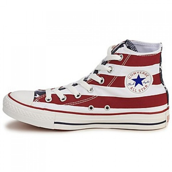 Converse All Star Stars & Bars Hi White Blue Red Men's Shoes