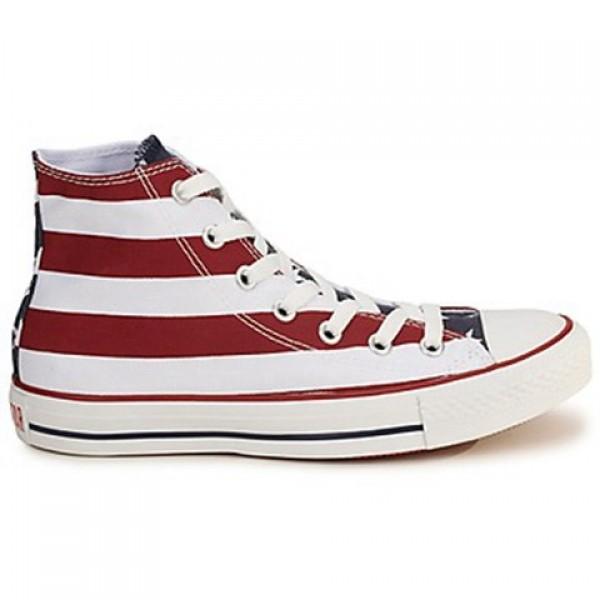 Converse All Star Stars & Bars Hi White Blue R...