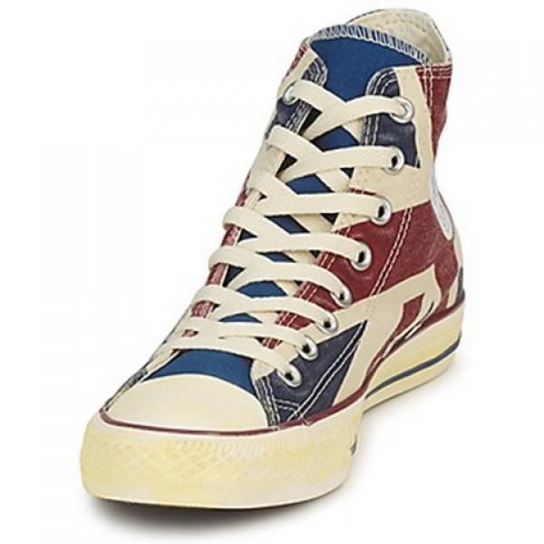 Converse All Star Union Jack Hi White Blue Red Men's Shoes