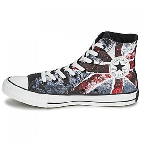 Converse All Star Destroyed UK Flag Hi White Blue Red Men's Shoes