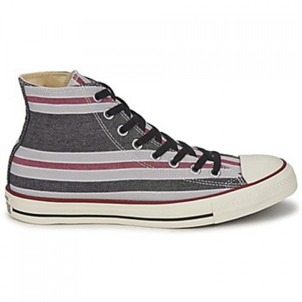 Converse All Star Season Hi Black Bordeaux Grey Me...