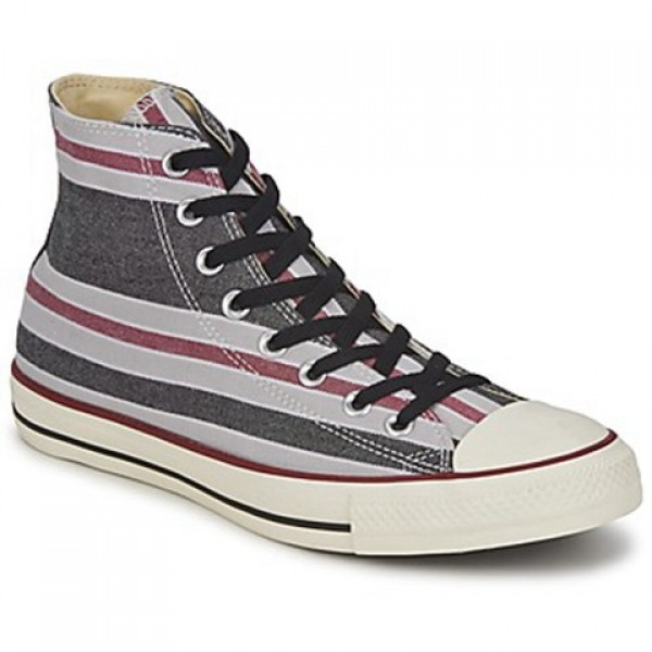 Converse All Star Season Hi Black Bordeaux Grey Men's Shoes