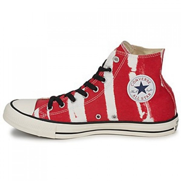Converse All Star Bleach Hi Red Men's Shoes