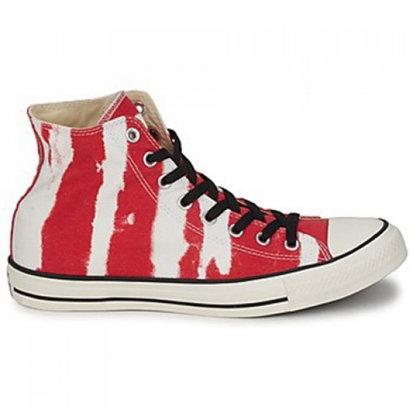 Converse All Star Bleach Hi Red Men's Shoes