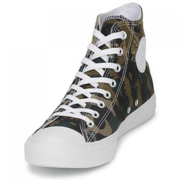 Converse All Star Tri Panel Hi Camo Kaki Green Men's Shoes