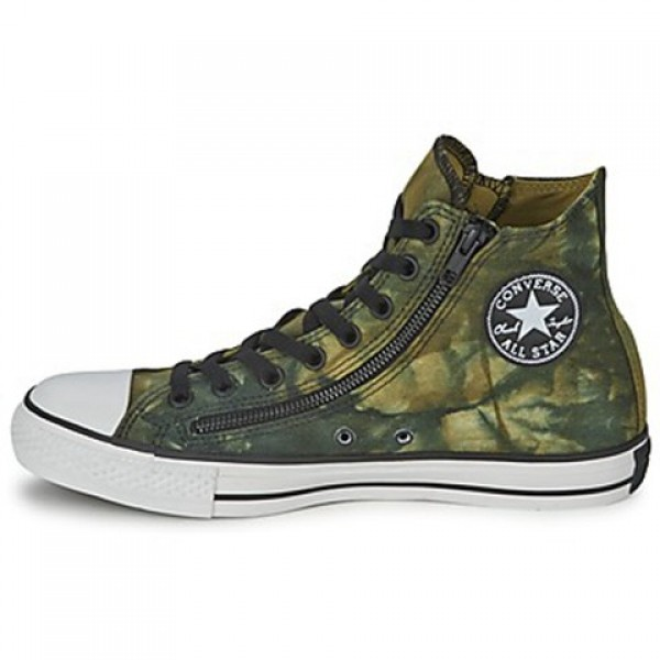 Converse All Star Tie Dye Double Zip Hi Privet Palm Green Men's Shoes