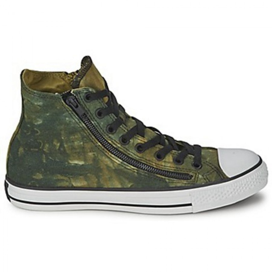 81f22aa5 Converse All Star Tie Dye Double Zip Hi Privet Palm Green Men's Shoes