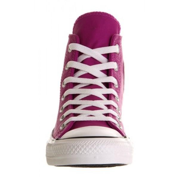 Converse All Star Hi Leather Purple Cactus Flower St Women's Shoes